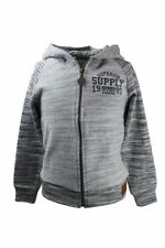 boys hoodie top with front zipped fastening