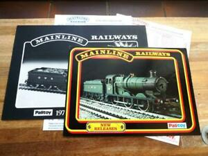 MAINLINE RAILWAYS 1976 TRADE PREVIEW CATALOGUE PLUS OTHER  AND PRICE LISTS
