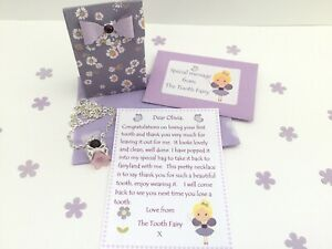 Personalised Tooth Fairy Letter, Necklace, Gift Box, Tooth Fairy Gift, Purple