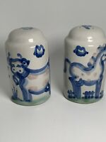 MA Hadley American Studio Art Pottery Salt & Pepper Shakers Cow & Horse