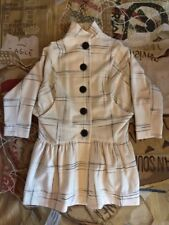NEW VIVIENNE WESTWOOD ANGLOMANIA NYMPHS WHITE WOOL MIX CHECK POURPOINT COAT 38