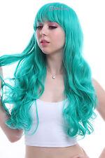 Rozen Maiden Kanarienvogel Dark Turquoise Long Wave Curly Hair Cosplay Wigs