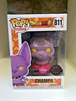 CHAMPA FLOCKED LIMITED EXCLUSIVE DRAGONBALL Z ANIME ANIMATION FUNKO POP #811