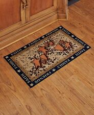 The Lakeside Collection Faith Family Friends Kitchen Floor Mat