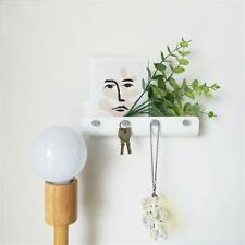 Home Bath Clean Simple Wall Adhesive Key Hook Mail Letter Storage Organizer Rack
