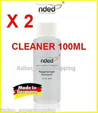 2 CLEANER 100ML RICOSTRUZIONE UNGHIE SMALTO GEL SGRASSANTE NDED MADE IN GERMANY