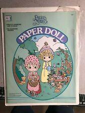 "Precious Moments paper doll 10"" x 13"" softcover book (1992) Golden Press"