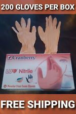 200 Coral Nitrile Exam Gloves X-Small Powder-Free Latex-Free Disposable medical