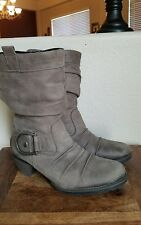 REMONTE DORNDORF Taupe Nubuck FLEECE LINED mid-calf BOOTS SIZE 40 (US 8.5-9)
