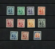 Sarawak: 1932, definitive series, short set to 20c, Mint