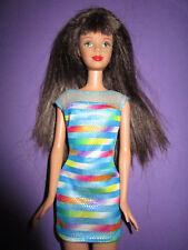 B603-vieja morena bead Blast barbie #18891 mattel 1998 original-vestido + zapatos
