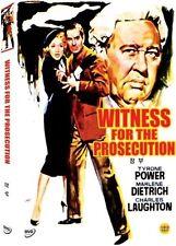 WITNESS FOR THE PROSECUTION 1957 - Region 2 Compatible DVD (UK seller!!!)NEW