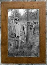 """Adorable... Young Boy Posing with Large Mouth Bass ... Antique 8x10"""" Photo Print"""