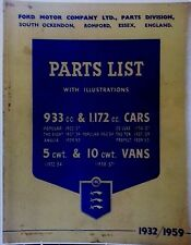 1932-53 Ford Anglia Popular Eight Thames Prefect Ten DeLuxe PARTS MANUAL ILLUST.