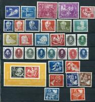 Germany 1950 Mi 246-279 MH Complete Year (-2 stamps)CV 238 euro 2499