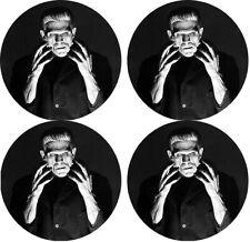 Frankenstein Round Rubber Coaster set (4 pack) Great Gift Idea