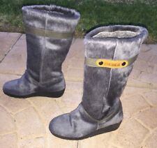 Tecnica Womens Fur Boots Size Euro 35 UK 2 US 5 Hardly Worn! Clean!