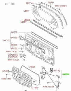 Toyota Tundra 07-21 CMAX Rear Back Window Regulator Kit w/ Motor Genuine OEM OE