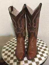 ROCKABILLY BROWN LARRY MAHAN DISTRESSED RANCH DANCE WORK COWBOY BOOTS 8.5 D