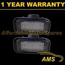 2X FOR MERCEDES C CLASS W203 4 DOOR SALOON 00-07 18 WHITE LED NUMBER PLATE LAMP