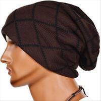 Unisex Women Men Hip-Hop Warm Winter Wool Knit Ski Beanie Skull Slouchy Cap Hat