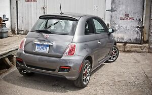 "UN-PAINTED ""POP-STYLE"" REAR SPOILER FOR 2012-2017 FIAT 500 - SMALLER THAN ABARTH"