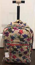 NEW Vera Bradley FALLING FLOWERS NEUTRAL Rolling Backpack - School Collage  Bag b7c6cbf95d32b