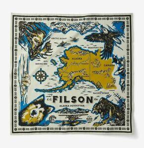 "CC FILSON Alaska Gray Sky Explorer Sled Dog Bandana Handkerchief NEW Huge 31"""