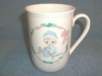 PRECIOUS MOMENTS MERRY CHRISTMAS COFFEE CUP MUG 1991 ENESCO BY SAMUEL J BUTCHER