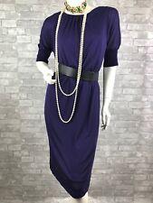 Auth New $985 AKRIS Runway Stretch Purple Dress Shirt Top Lined 10 US 46 IT M