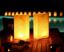 Pack of 10 Paper Candle Tea Light Lantern Bags Weddings Parties Garden BBQ Xmas