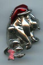 Disney Winnie the Pooh - Sad Santa Hat Eeyore Pewter Jewelry Pin