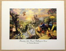"Thomas Kinkade Open Edition DISNEY print ""Beauty & The Beast Falling in Love"""