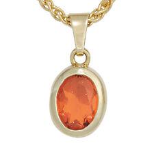 Echte Edelstein-Halsketten & -Anhänger aus Gelbgold mit Opal für Damen