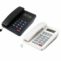 Black/White Desk Top Corded Home Phone Landline Telephone Caller ID Home Office