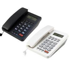 Black/White Desk Top Corded Home Phone Landline Telephone Caller ID Home Office