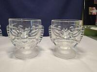 set lot 2 plastic clear tiki head mugs cups glasses 12oz party barware
