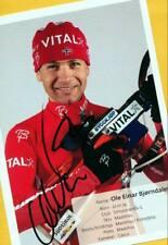 Ole Einar Björndalen (1) Autograph Picture Large Format 15 x 21 + Ski AK FREE