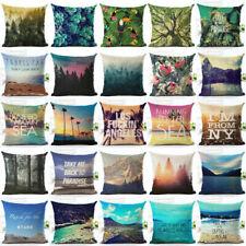 """18"""" Plants Pattern Cotton Linen Standard Pillow Case Cushion Cover Home Decor"""