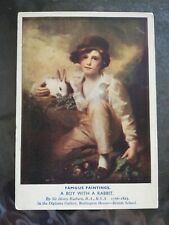 Godfrey Phillips Postcard: A Boy With a Rabbit