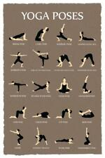 Yoga Poses Reference Chart Studio Gray Mural Inch Poster 36x54 inch