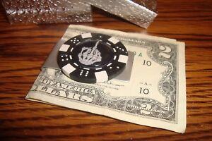 FU Middle Finger Money Clip  Bones Design Aluminum Poker Chip Gloss image
