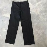 Eileen Fisher Black Virgin Wool Blend Womens Dress Trouser Pants Size Small