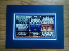 KENTUCKY WILDCATS ALL MATTED PHOTO OF ALL 8 NCAA BASKETBALL CHAMPION TEAMS