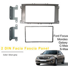 Silver Grey 2 DIN Car CD Radio Plate Stereo Facia Fascia Panel Ford Mondeo Focus