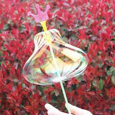 Cute LED Rainbow Magic Stick Wand Spinning Ribbon Bubble Flower Magic Wand Toys