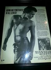 Adam Ant Friend Or Foe Rare Original Promo Poster Ad Framed!