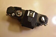 Nikon FM2 BLACK body, working meter, shutter needs calibration, for repair