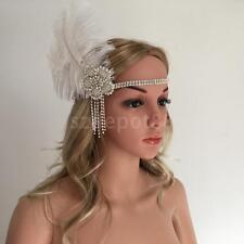 Flower Tassels Feather 1920s Headpiece Flapper Chain Great Gatsby Headband