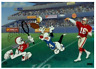 Warner Brothers-Catch the Birdie Limited Edition Cel Signed By Joe Montana